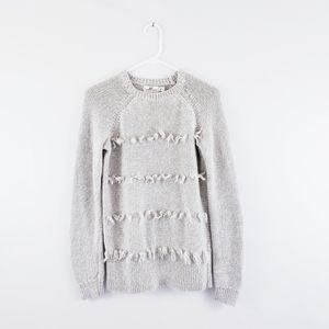 Vineyard Vines Wool Cashmere Tassel Fringe Sweater